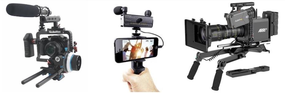 caméras, smartphone pour la vidéo